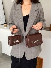 Fashion Bow Alligator Print Chain Handbags