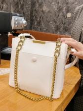 Vintage Solid Chain Shoulder Bags