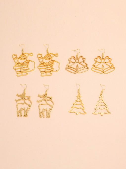 Geometry Trendy Christmas Earrings Sets For Women