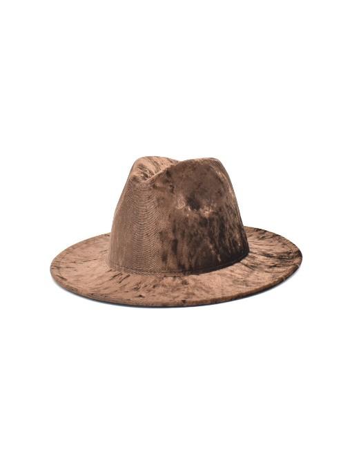 Pleuche Winter British Style Fedora Hat