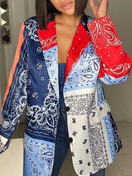 Fashion Print Coats For Women
