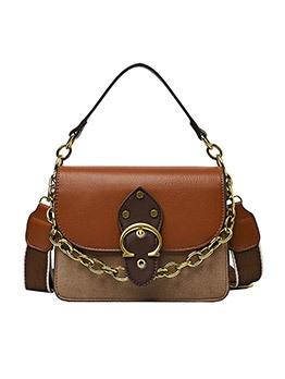 Vintage Contrast Color Chain Handbags