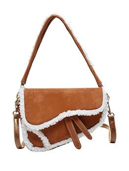 Street Style Plush Vintage Shoulder Bags