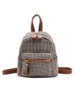 Korea Houndstooth Backpacks For Women