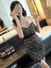 Nightclub Sexy Backless Deep V Neck Bodycon Dress
