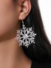 Acrylic Christmas Snowflake Pendant Earrings