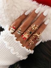 Euramerican Superior Quality Christmas Rings Set