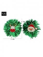 Christmas Santa Claus Green Sequined Earrings