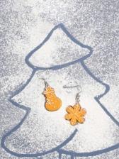 Snowman Snowflake Cute Earrings Christmas Accessories