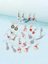 Cute Bell Gloves Deer Christmas Gift Earrings Set
