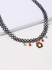 Create Design Christmas Cartoon Necklace Women