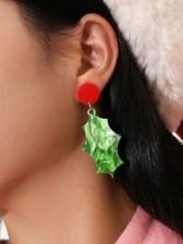 Irregular Acrylic Christmas Earrings For Women