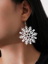 Christmas Gentle White Resin Snowflake Earrings