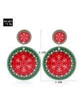 Bohemian Snowflake Pattern Acrylic Christmas Earrings