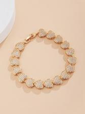 Stylish Sweet Heart Rhinestone Bracelet For Women