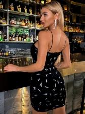 Deep V Neck Nightclub Sexy Sleeveless Dress