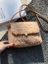 Popular Woolen Design Shoulder Bags