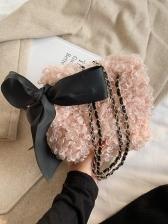 Personality Woolen Chain Crossbody Bags