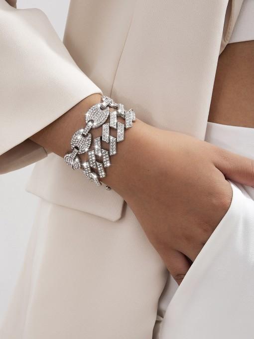 Temperament Full Rhinestone Solid Women Bracelet