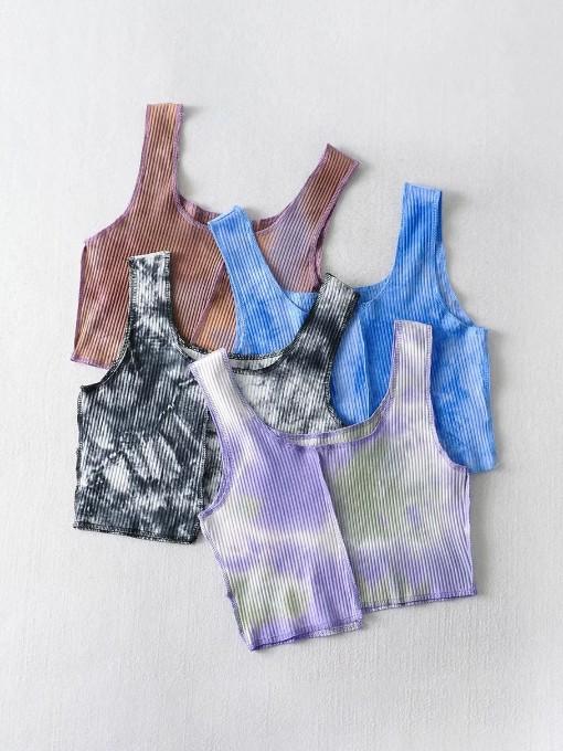 Tie Dye Cropped Tank Top Women