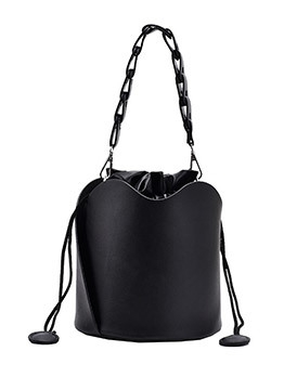 Fashion Solid Bucket Handbags Women