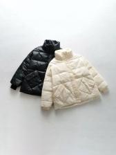 Double Pockets Winter Down Coat For Women