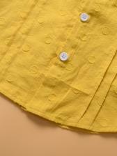 Doll Collar Girls Shirt With Gauze Fluffy Skirt