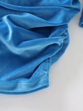 Mock Neck Draped Long Sleeve Dress