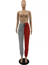 Casual Contrast Color Thicker Stacked Long Pants