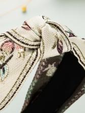 Vintage Embroidered Flower National Hair Hoop