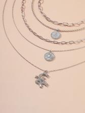 Rhinestone Dragon Shape Pendant Necklace