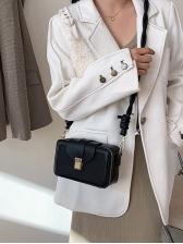 Contrast Color Frosted Shoulder Bags