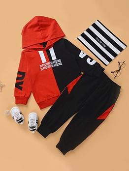 Contrast Color Letter 2 Piece Outfits