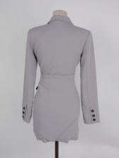 OL Style Notch Collar Long Sleeve Blazer