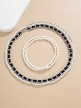 Simple Stylish Faux-Pearl Body Waist Chain
