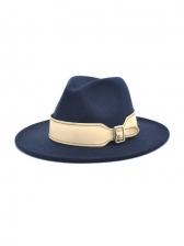 Fashion Wide Brim Felt British Style Fedora Hat