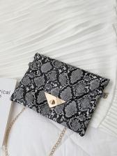 Casual Snake Print Design Handbags