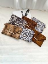 Animal Print Chain Shoulder Bags
