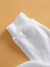 Casual White Plush Clothing Sets