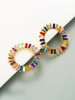 Alloy Material Rhinestone Online Fashion Earrings