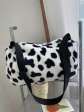Cartoon Cow Print Furry Armpit Bag For Women