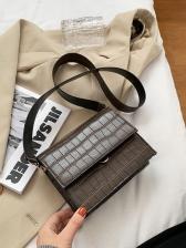 Vintage Style Crocodile Pattern Square Bag