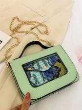 Snake Print Over The Shoulder Bags Fashion