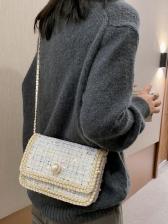 Sequin Decor Square Crossbody Bag For Ladies