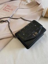 Square Threaded Twist Hasp Crossbody Mini Bag