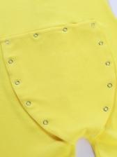 Fashion Design Solid Long Sleeve Romper