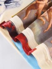 Fashion Printed Sleeveless Crop Top And Pant Set