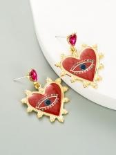 Personality Design Faux-Pearl Online Heart Shape Earrings