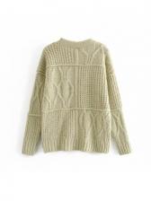 Casual V Neck Knitting Coat Autumn
