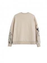 New Print Crew Neck Pullover Sweatshirt